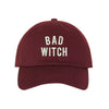 Unisex Bad Witch Dad Hat, Baseball Hat, Bad Witch Hats, Witch, Embroidered Hat, Embroidered Bad Witch, Custom Embroidery, DSY Lifestyle Hats, Burgundy Dad Hat, Made in LA