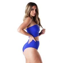 Load image into Gallery viewer, Two Piece Royal Blue Tube Top & High Waist Booty Shorts - Prfcto Lifestyle
