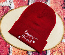 Load image into Gallery viewer, Happy Fall Y'all Cuffed Beanie Hat