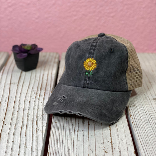 Sunflower Distressed Trucker Hat - Prfcto Lifestyle