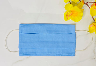 Adult Face Mask Covers, Cloth Mask Coverings, Cotton Face Masks, Face Mask with Filter Pocket, Mask, Protective Mask, Face Cover, Cloth Face Mask, Blue Face Mask, Made in LA