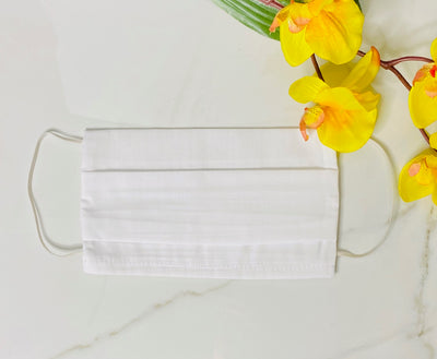 Adult Face Mask Covers, Cloth Mask Coverings, Cotton Face Masks, Face Mask with Filter Pocket, Mask, Protective Mask, Face Cover, Cloth Face Mask, White Face Mask, Made in LA