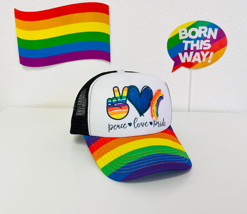 Love Peace Pride Foam Trucker Hat