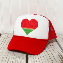 Load image into Gallery viewer, Watermelon Heart Trucker Hat