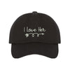 I Love him & I Love Her Baseball Hats - Matching Couples Baseball Caps Set - Prfcto Lifestyle