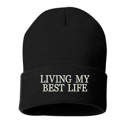 Living My Best Life Cuffed Beanie - Prfcto Lifestyle