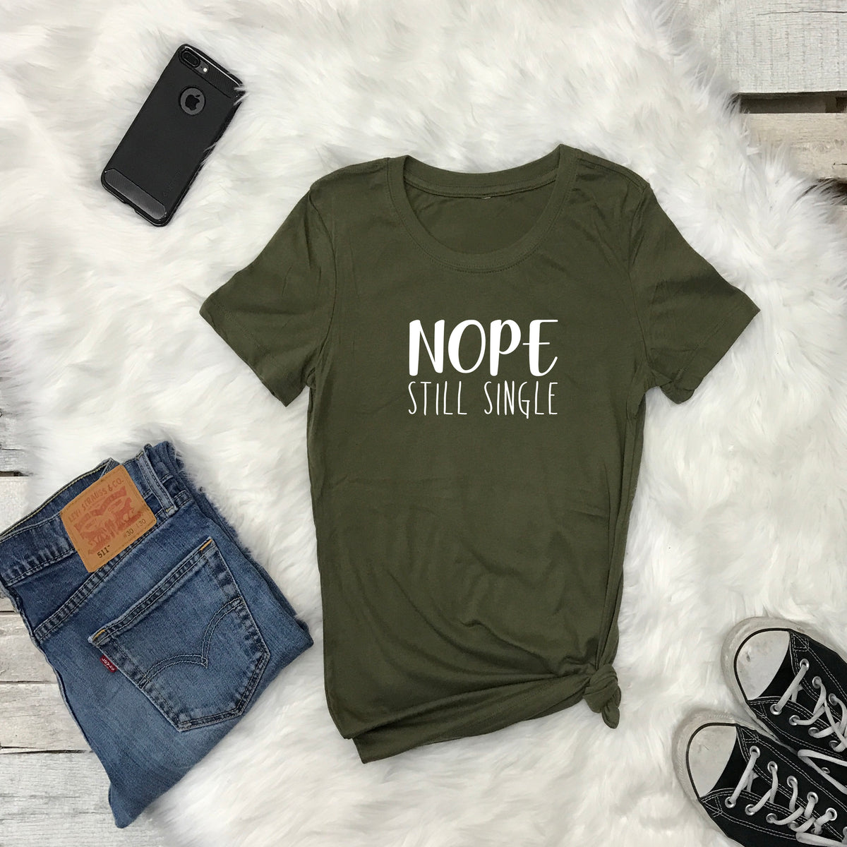 Women's Tshirt NOPE Still Single - Prfcto Lifestyle