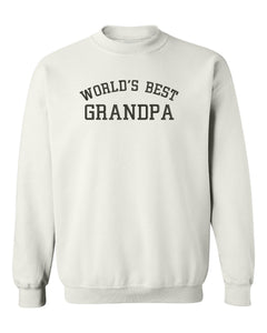 Worlds Best Grandpa Ever Sweatshirt - Embroidered Sweatshirt Fathers Day