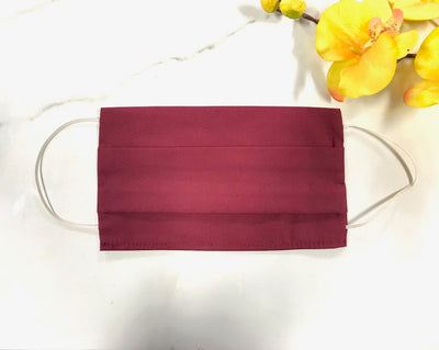 Adult Face Mask Covers, Cloth Mask Coverings, Cotton Face Masks, Face Mask with Filter Pocket, Mask, Protective Mask, Face Cover, Cloth Face Mask, Burgundy Face Mask, Made in LA