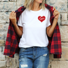 Unisex Red Love Heart T-Shirt , White T-Shirt, Love Heart, Heart, Printed Shirt, Scoop Neck Shirt, Crewneck, Valentines Day Shirt, DSY Lifestyle Shirt, Made in LA