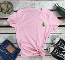 Load image into Gallery viewer, Cactus Embroidered Women's Tshirt - Prfcto Lifestyle