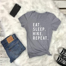 Load image into Gallery viewer, EAT SLEEP HIKE Repeat Tshirt - Prfcto Lifestyle