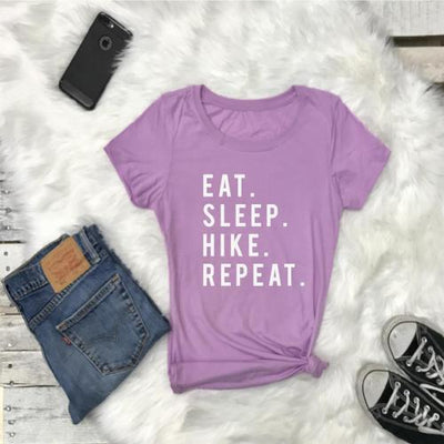 EAT SLEEP HIKE Repeat Tshirt - Prfcto Lifestyle