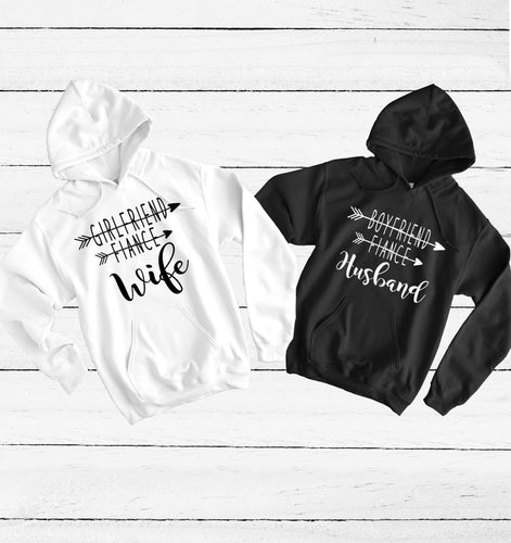 WIFE Fiance -Husband Fiance  Hoodie Set