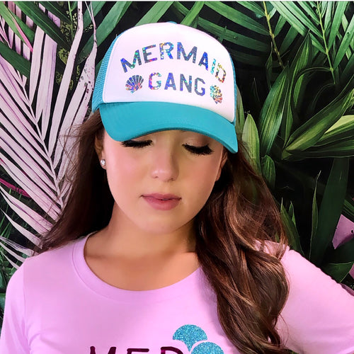 Mermaid Gang Rainbow Trucker Hat