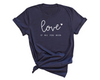 Unisex Love Is All You Need T-Shirt , Navy T-Shirt, Love, Printed Shirt, Scoop Neck Shirt, Crewneck, Valentines Day Shirt, DSY Lifestyle Shirt, Made in LA