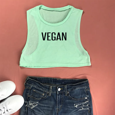 VEGAN Cropped Muscle Tank Top - Prfcto Lifestyle