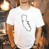 California Outline Home Unisex T-Shirt , White T-Shirt, California , Printed Shirt, Scoop Neck Shirt, Crewneck, California Outline Home , DSY Lifestyle Shirt, Made in LA