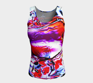 Gel Art #14 Fitted Tank Top