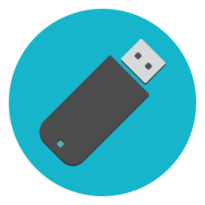 An icon of a USB stick