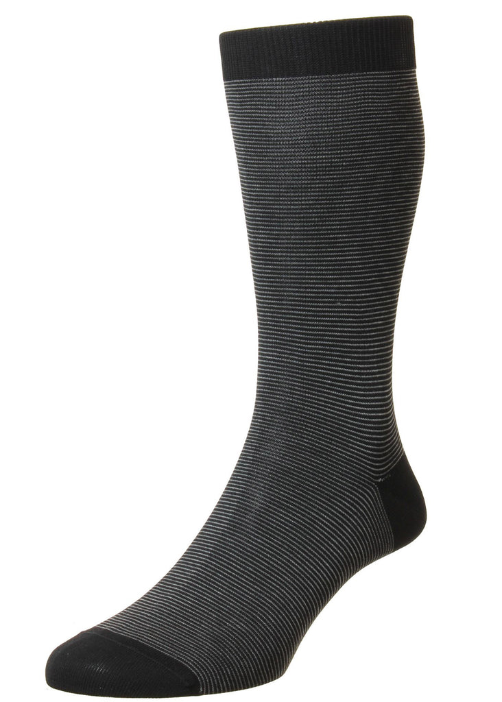 Pantherella Seymour Sock | Black - Jordan Lash Charleston