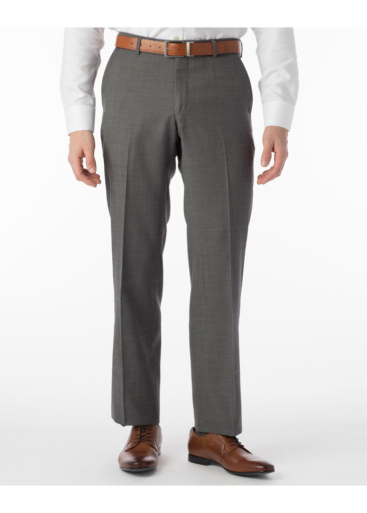 Ballin Super 110's Comfort Eze Sharkskin Soho Dress Pants | Mid Grey - Jordan Lash Charleston