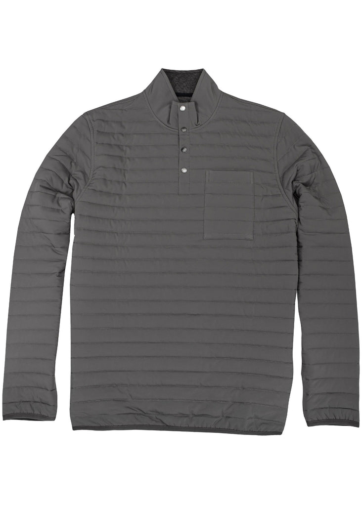 Onward Reserve Crosby Quilted Pullover | Charcoal Grey - Jordan Lash Charleston