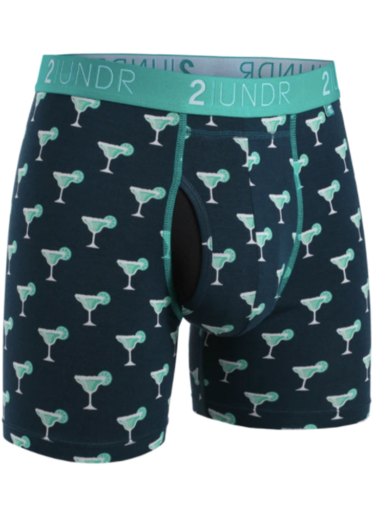 2 UNDR Swing Shift 6 Inch Boxer Brief | Margaritas - Jordan Lash Charleston
