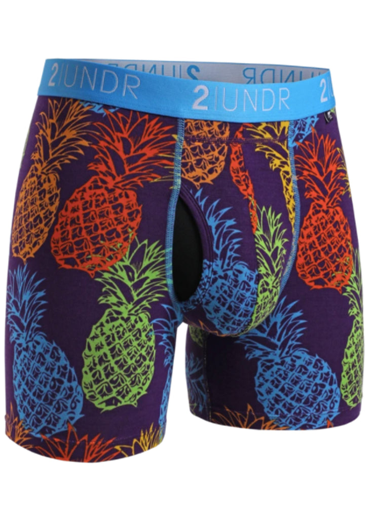 2 UNDR Swing Shift 6 Inch Boxer Brief | Pina Colada - Jordan Lash Charleston