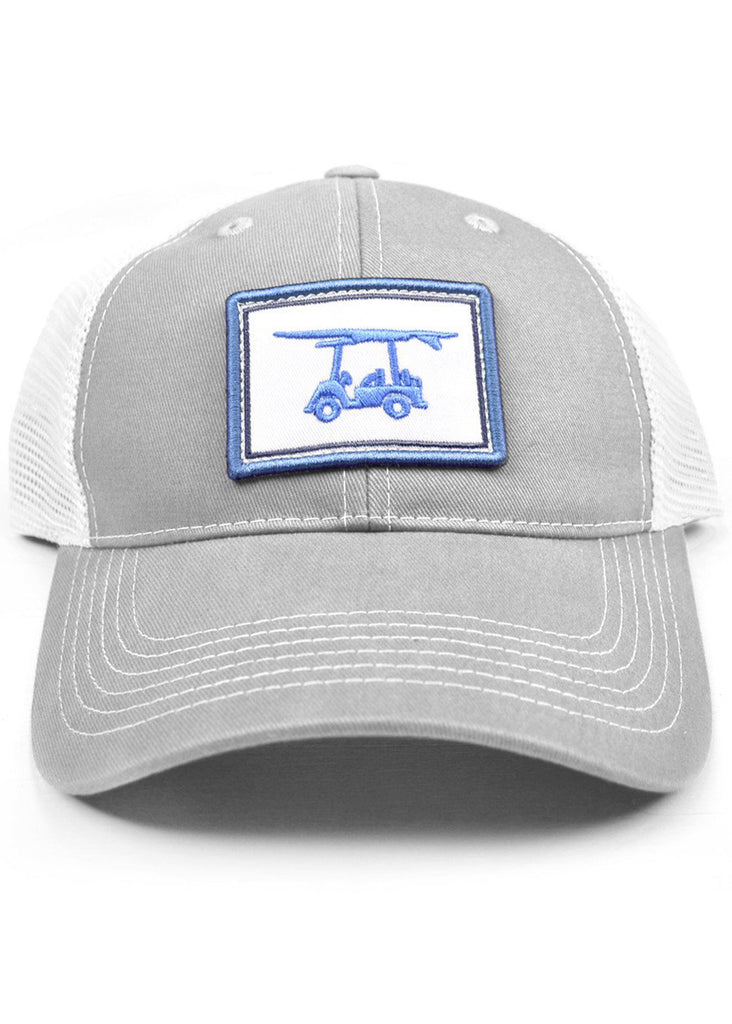 Bald Head Blues Snapback Hat | Grey Patch Trucker - Jordan Lash Charleston