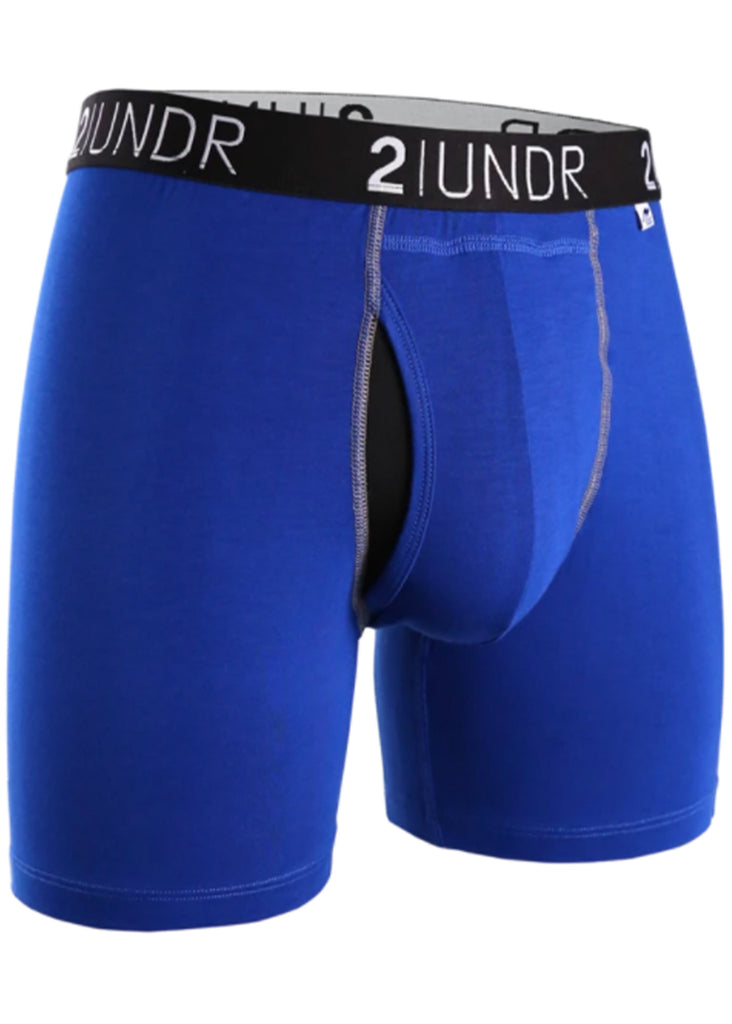 2 UNDR Swing Shift 6 Inch Boxer Brief | Blue and Blue - Jordan Lash Charleston