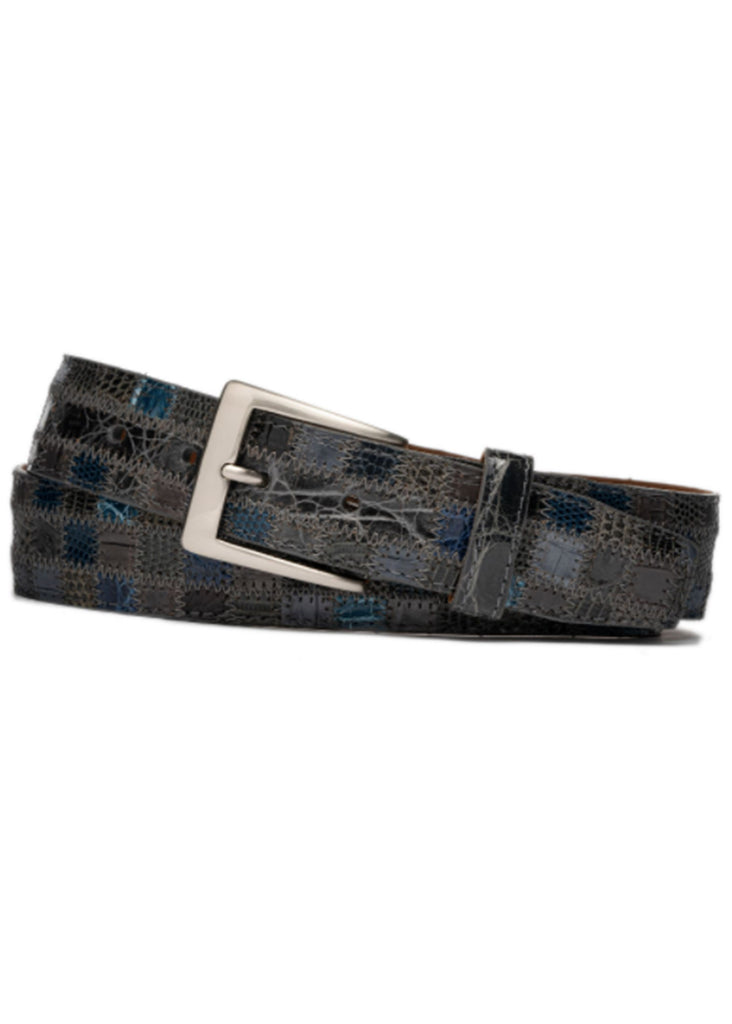 "W. Kleinberg 1 3/8"" Patchwork Alligator and Lizard 