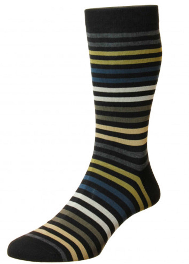 Pantherella Kilburn Sock | Black - Jordan Lash Charleston