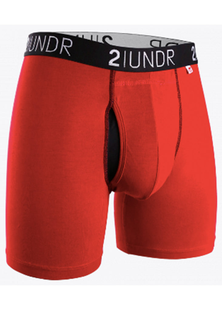 2 UNDR Swing Shift 6 Inch Boxer Brief | Red and Red - Jordan Lash Charleston