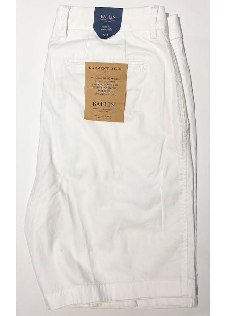 Ballin Stretch Cotton Linen Drummond Short | Ivory - Jordan Lash Charleston