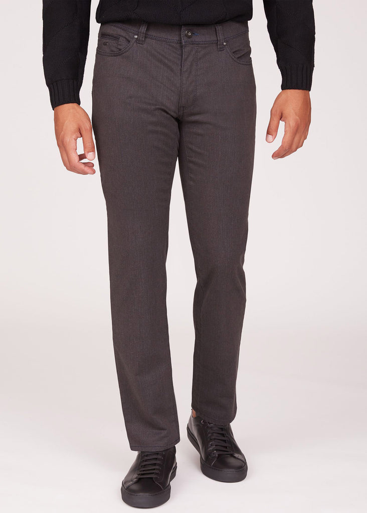 Brax Seaqual Cooper Fancy 5 Pocket Pant | Anthra - Jordan Lash Charleston