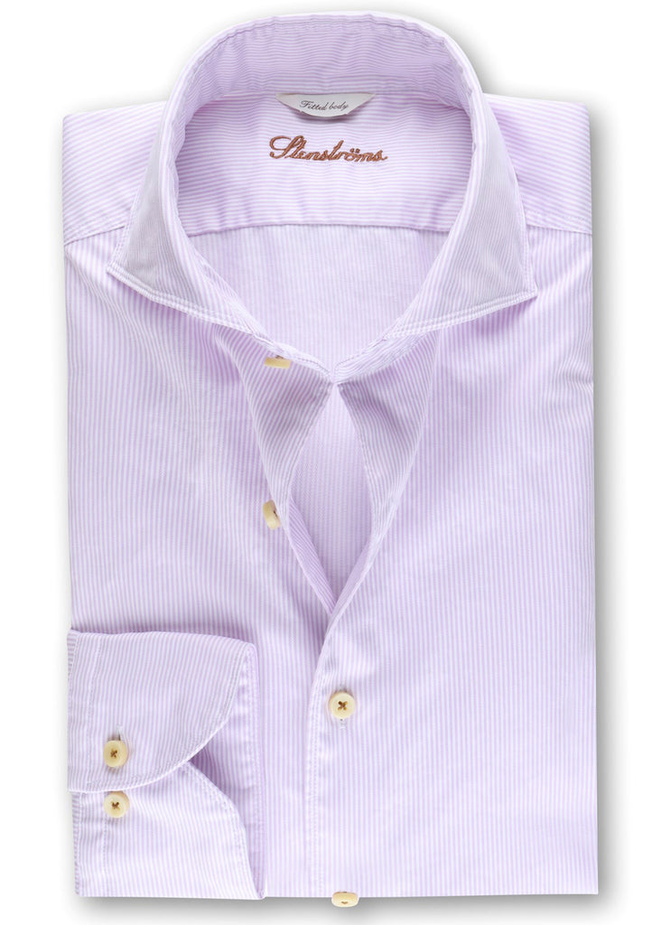 Stenstroms Fitted Body Casual Shirt | Pinstriped Purple - Jordan Lash Charleston