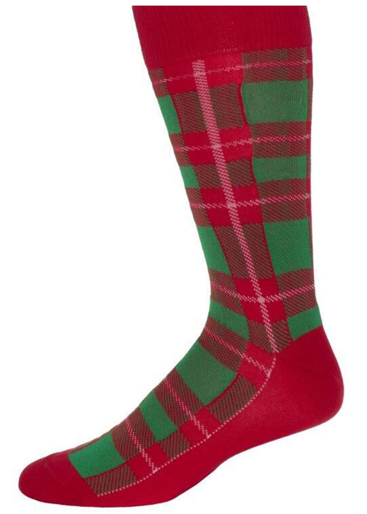 Ell & Atty Xmas Plaid Sock | Red - Jordan Lash Charleston