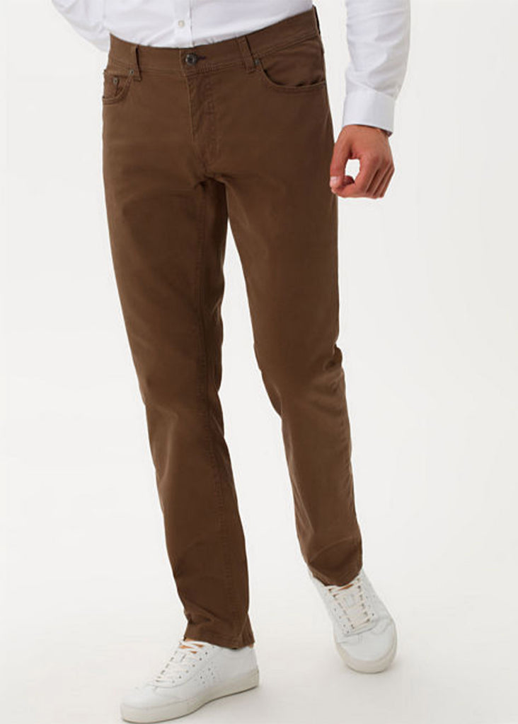Brax Marathon Supima Flex Cooper Fancy 5 Pocket Pant | Nut - Jordan Lash Charleston