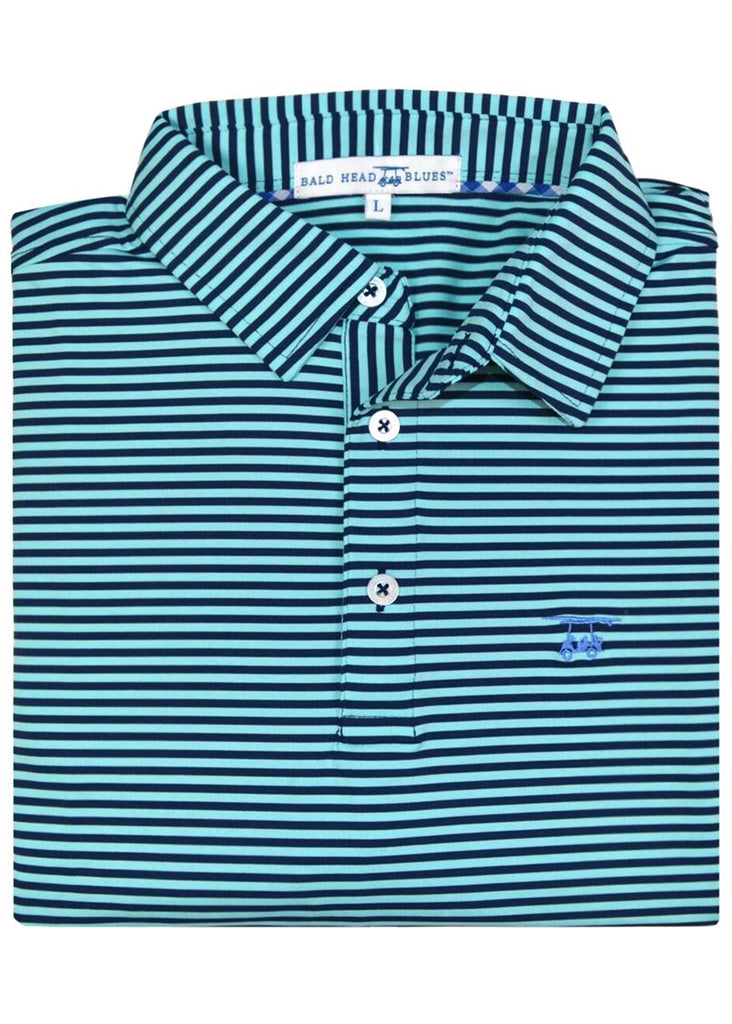 Bald Head Blues Albatross Polo | Medieval and Aruba Stripe - Jordan Lash Charleston