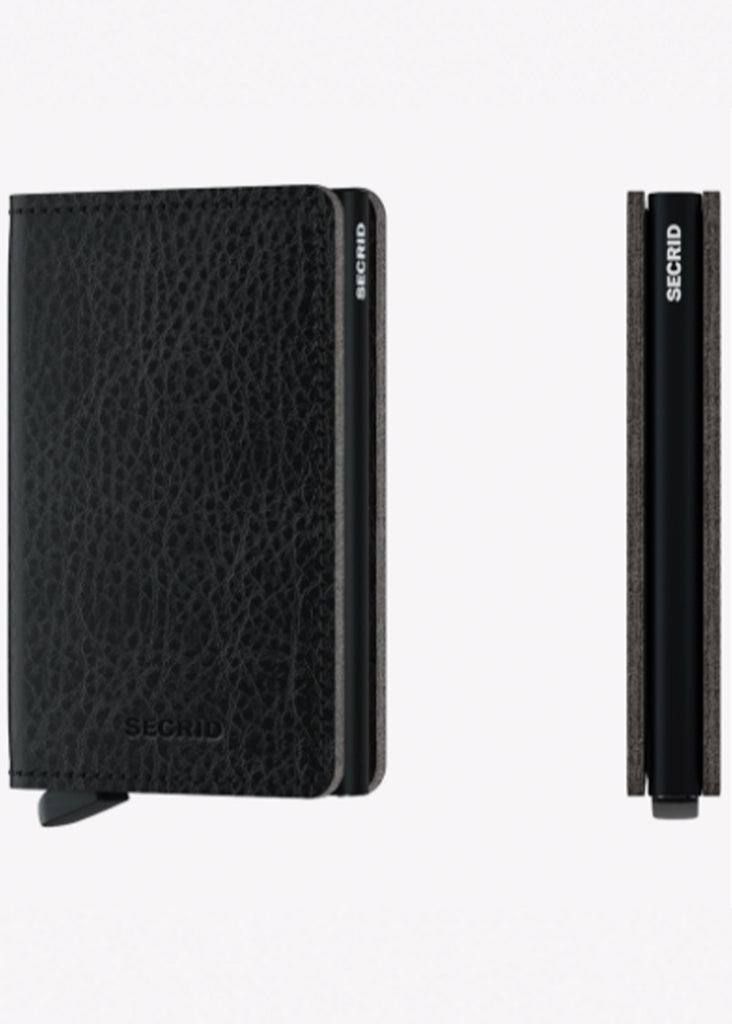 Secrid Slimwallet | Veg Black and Black - Jordan Lash Charleston