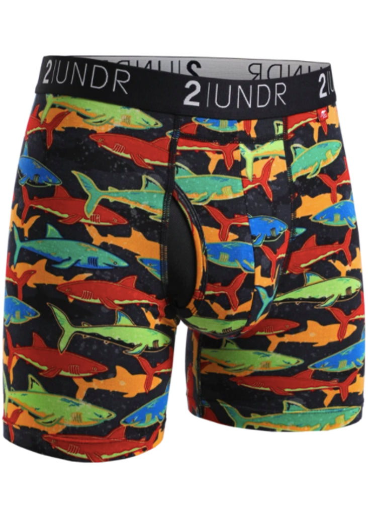 2 UNDR Swing Shift 6 Inch Boxer Brief | Shark Fest - Jordan Lash Charleston