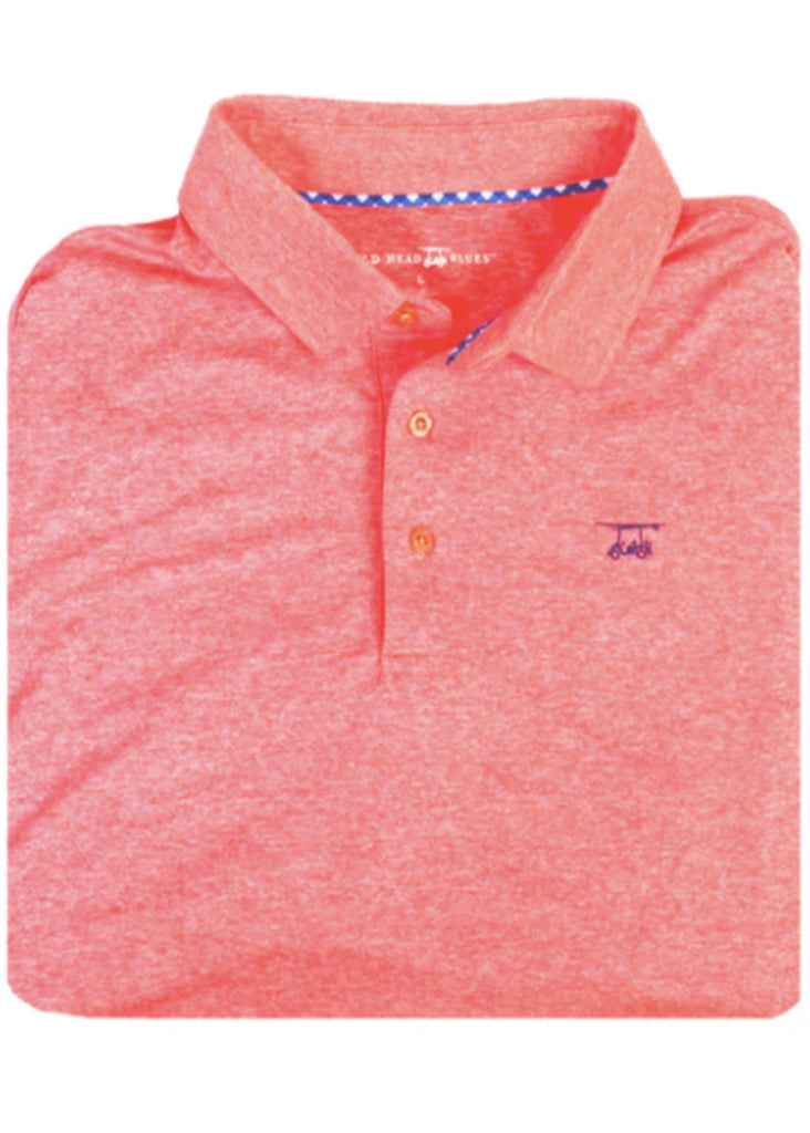 Bald Head Blues Albatross Polo | Heather Coral - Jordan Lash Charleston