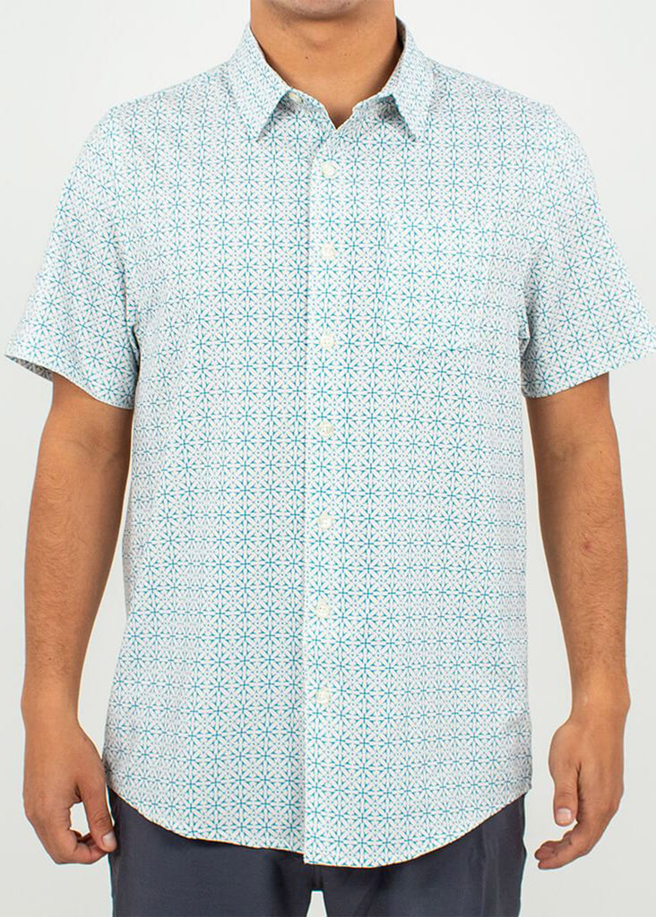Toes On The Nose Poolside Short Sleeve Button Up | Ecru - Jordan Lash Charleston
