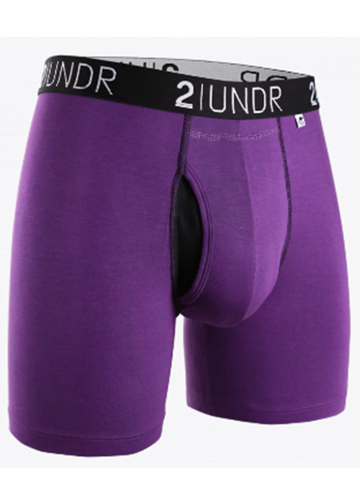 2 UNDR Swing Shift 6 Inch Boxer Brief | Purple - Jordan Lash Charleston