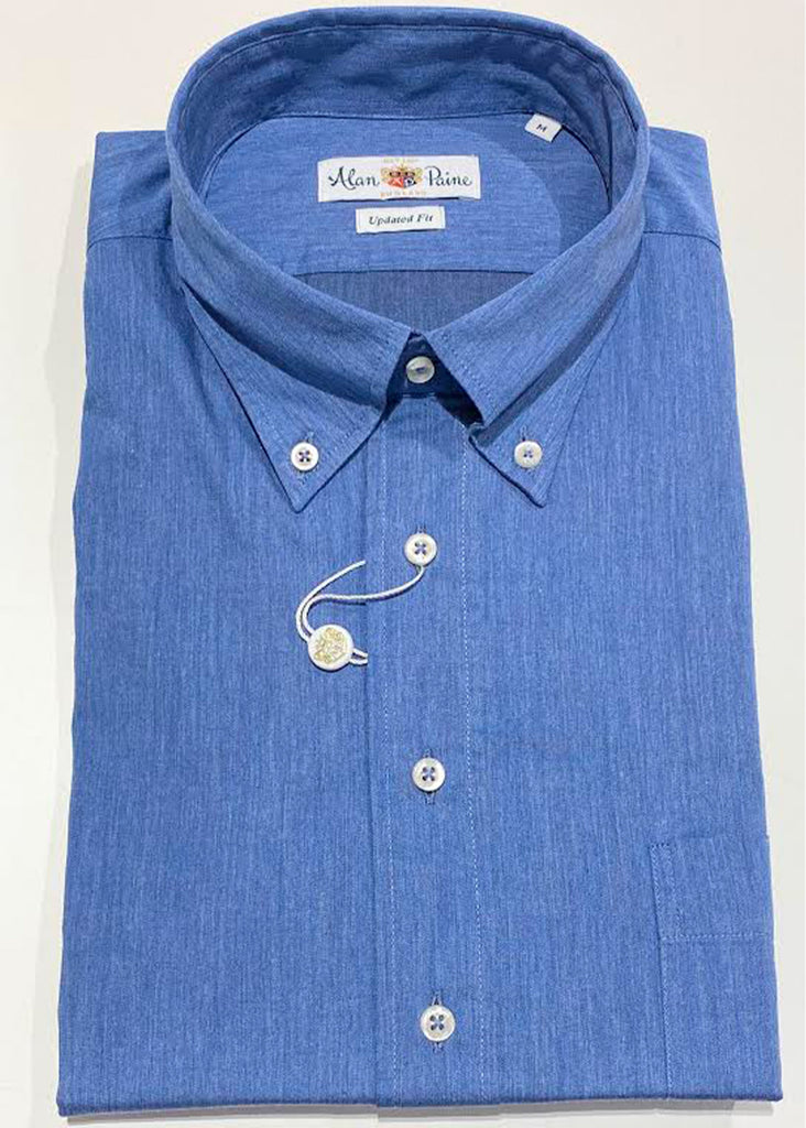 Alan Paine Goldthorpe Shirt | Blue Chambray - Jordan Lash Charleston