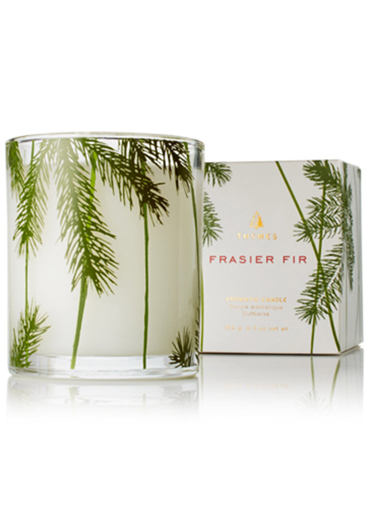 Thymes Frasier Fir Heritage Collection | Poured Candle, Pine Needle Design - Jordan Lash Charleston