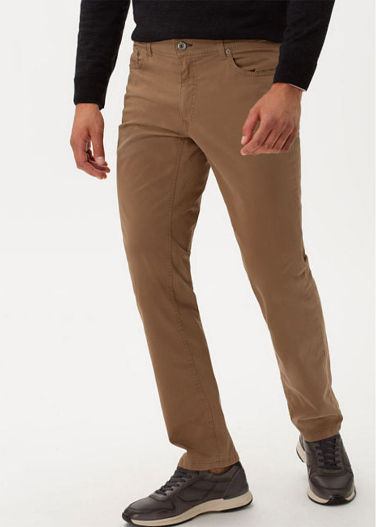Brax Marathon Supima Flex Cooper Fancy 5 Pocket Pant | Walnut - Jordan Lash Charleston