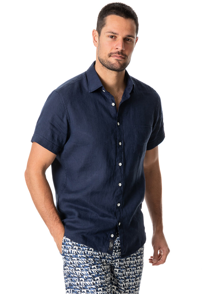 Rodd and Gunn Ellerslie Shirt | Midnight - Jordan Lash Charleston