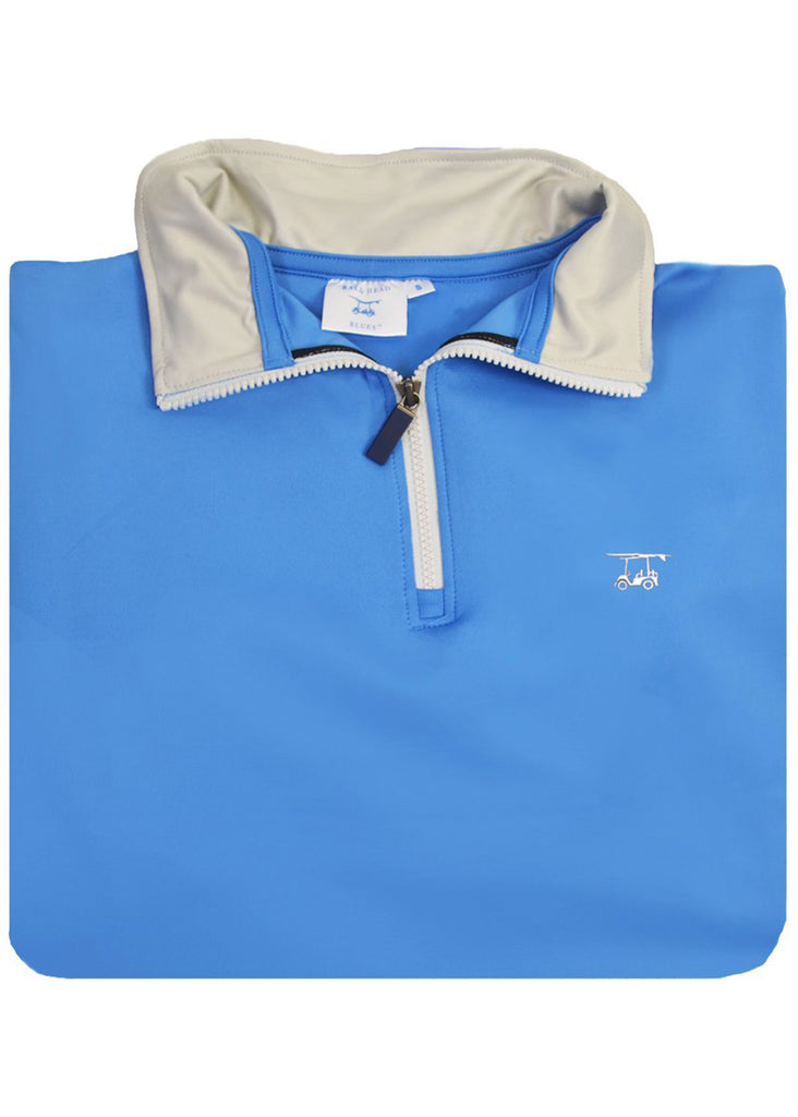 Bald Head Blues Dogwood Quarter Zip | Solid Regatta - Jordan Lash Charleston